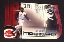 KEN GRIFFEY JR 2002 Fleer Genuine TIP OF THE CAP Die-Cut INSERT Card SP #19 REDS