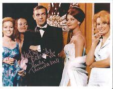 Hand Signed 8x10 photo MARTINE BESWICK & PALUZZI in THUNDERBALL James Bond + COA