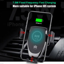 Qi Wireless Car Charger Mount Holder USB iPhone XS Max 8 Samsung Galalxy S9 Note