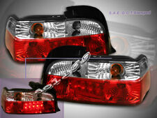 1992-1998 BMW E36 318 323 325 328 Tail Lights 2DR LED Red Clear