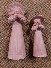 Faceless mother and daughter figurines no chips or cracks pre-owned