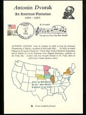US Postal History Music Antonin Dvorak New World Symphony Pictorial 1984 IL