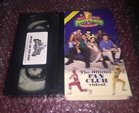 MIGHTY MORPHIN POWER RANGERS - OFFICIAL FAN CLUB VIDEO (VHS 1994) TV SERIES 📼