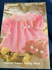 Crochet Baby Angel Top & Booties Kaiapoi # 748 knitting pattern 3 ply yarn
