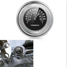 """7/8"""" 1"""" Chrome Thermometer For Honda Gold Wing Valkyrie Rune GL 1500 1800"""