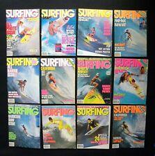 SURFING MAGAZINE 1988 VOL.24  LOT OF 12 ISSUES SURFER LONGBOARDING  HAWAII