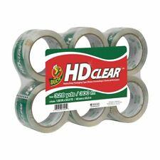 Duck HD Clear Heavy-Duty Packaging Tape, 6-Pack