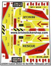 Replica Pre-Cut Sticker for Lego® set 9396 - Helicopter (2012)