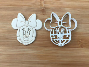 Minnie Mouse Uk SELLER Biscuit Cookie Cutter Fondant Cake Decorating