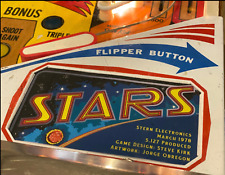 Stern Stars Pinball Custom Apron Cards Set Instruction Rules Information