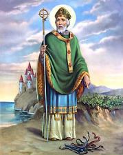 St. Patrick's Day Postcard: Vintage Repro Print - St. Patrick with Snakes