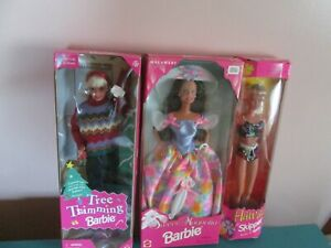 Lot Of 3 Barbies Unopened In Box