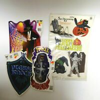 Vintage Halloween Cardboard Cutout Decoration 4 Set Night Fever Cat Pumpkin 90s
