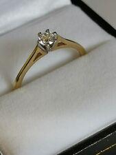 New DIAMOND SOLITAIRE GOLD RING 9ct 375 yellow round brilliant 0.25 carat