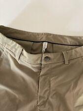 "Men's Size 34 (Meas. 35"") Lululemon Commission Tan Casual ABC Shorts 9"" Inseam"