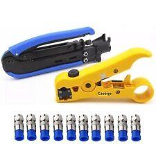 Coaxial Compression Tool Coax Cable Crimper Kit Adjustable RG6 RG59 RG11 75-5