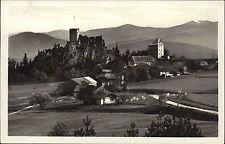 Ruine Weißenstein bei Regen bayerischer Wald Postkarte ~1930 Panorama Totale