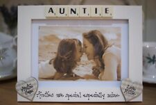 Personalised Photo Frame! Auntie Aunty Scrabble Tile Gift! 7x5''!