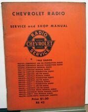 1965 Chevrolet Dealer Radio Service Shop Manual Repair Corvette Chevelle Truck