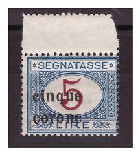 TRENTO E TRIESTE   1919 -  SEGNATASSE  -   LIRE 5  NUOVO **