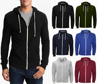 Plain Men Fleece Zip Up Hoody Jacket Sweatshirt Hooded Zipper Top Coat Sport Gym