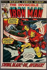 "IRON MAN #51 MARVEL 10/72 ""NOW STALKS THE CYBORG-SINISTER!"" GEORGE TUSKA ART VF"