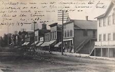 RPPC HAMPSHIRE, IL State Street Scene Illinois Vintage Real Photo Postcard 1907