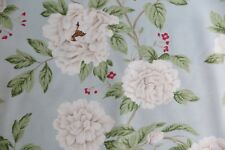 "SANDERSON CURTAIN FABRIC DESIGN ""Peony Tree"" 3.15 METRES DUCK EGG AND CREAM"