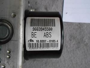 Peugeot 207 Citroen C2 C3 ABS Pompe 9663945580 10.0207-0105.4 Écu :