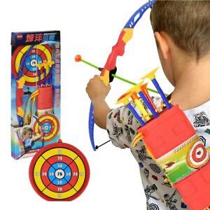 NEU/&OVP Pfeil und Bogen Kinder Spielset Bogenschießen Kinder 3 Pfeile Saugnapf