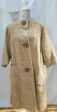 Fashioned by bromleigh new york 1960s collarless swing wool coat retro mod