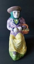 Vintage Large Pottery Pitcher Figural Toby Style Made in Portugal Authorized