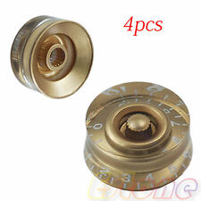 24mm Gold Speed Control Knob Numerals For Gibson Les Paul Electric Guitar 4pcs