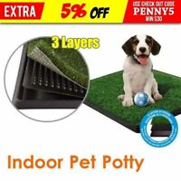 Dog Pet Potty Zoom Park Training Portable Toilet Loo Pad with Tray Large Indoor