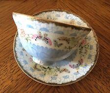 Antique Meiji Japanese Kutani Eggshell Porcelain Signed Wataken Sei Cup Plate