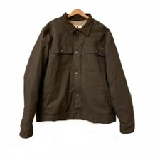 Woolrich Brown 2XL Canvas Sherpa Lined Insulated Work Trucker Jacket Mens