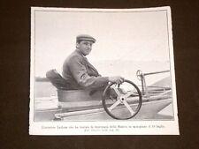 L'Aviatore Latham nel 1909 Traversata della Manica in monoplano 19 luglio 1909