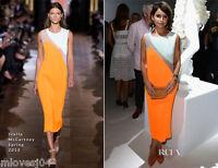 Stella McCartney Sheer Panel Orange Runway Dress BNWT UK 10 12 IT 40 42 £2165