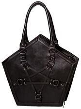Banned Apparel Evocation Pentagram Gothic Black Straps Handbag