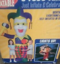 8ft Airblown Inflatable Mardi Gras Jester Inflatable Rare