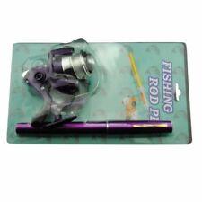 Aluminum Alloy Mini Portable Pocket Fish Pen Shape Fishing Rod Pole Reel Gear