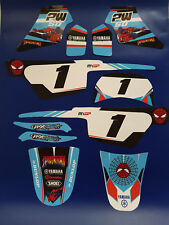 Kit deco pour moto cross Yamaha piwi PW50 PW 50 SPIDER-MAN Qualité Standard