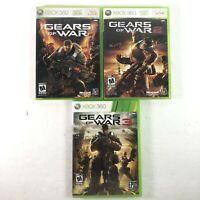 Gears of War 1 2 3 Trilogy Microsoft Xbox 360 Games Game Bundle Lot  Complete