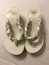 Pastry Popstars Girls Flip Flop Sandals Sz 3 White