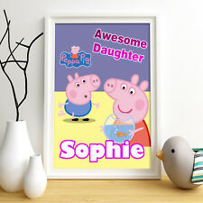 Peppa Pig George Personalised Poster A4 Print Wall Art Fast Delivery ✔