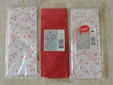 Valentine's Tissue Paper American Greetings 1 Red 8 Sheets ,2 Valentine 5 Se