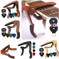 Alloy Quick Release Guitar Capo Acoustic Electric String Clamp Quick Trigger Set