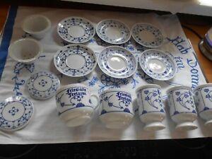 Friesische Teetasse Zwiebelmuster Konvolut Strohblume Indischblau Becher