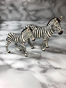 Zebra Wildlife Figure Safari Ltd NEW Toys X2