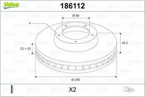 DISCHI FRENO AUDI 80-90-100 VALEO DF536 ORIG.443615301A-443615301D-431615301A